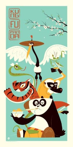 KUNG-FU-PANDA-DreamWorks-Limited-Edition-Fine-Art-Silkscreen-Print-by-Dave-Perillo-0