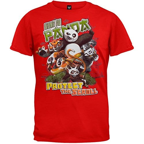 Kung-fu-Panda-Mens-Protect-T-shirt-Large-Red-0