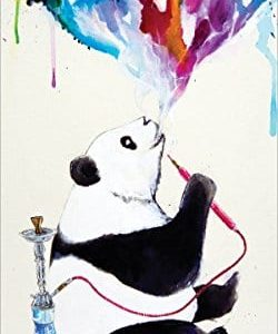 Marc-Allante-Panda-Smoking-a-Hookah-Modern-Contemporary-Animal-Decorative-Art-Poster-Print-12x24-0