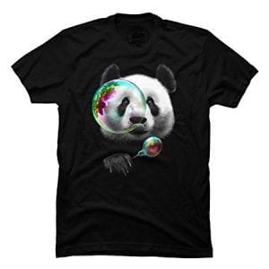 PANDA-BUBBLEMAKER-Mens-Large-Black-Graphic-T-Shirt-Design-By-Humans-0