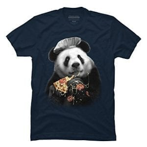 PANDA-LOVES-PIZZA-Mens-Medium-Navy-Graphic-T-Shirt-Design-By-Humans-0