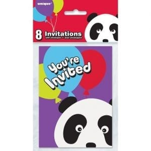 Panda-Birthday-Invitations-8ct-0