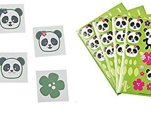 Panda-Party-Tattoos-72-Pcs-Sticker-Scenes-1-Dozen-0