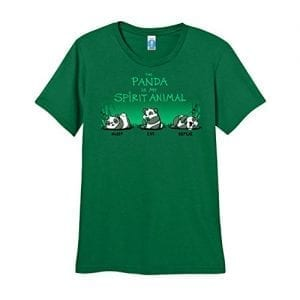 ShirtWoot-Womens-The-Panda-Is-My-Spirit-Animal-T-Shirt-Kelly-Green-Small-0