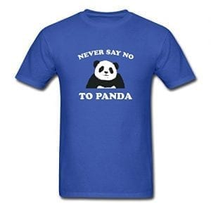 Spreadshirt-Mens-Never-Say-No-To-Panda-T-Shirt-royal-blue-M-0