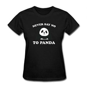 Spreadshirt-Womens-Never-Say-No-To-Panda-T-Shirt-Black-M-0
