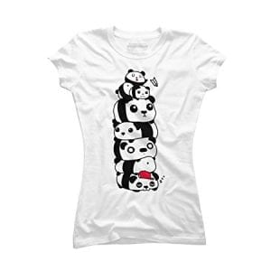 Stack-of-Pandas-Womens-X-Large-White-Graphic-T-Shirt-Design-By-Humans-0