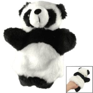 TOOGOOR-Kids-Recreational-Toy-Black-White-Faux-Fur-Panda-Hand-Puppet-0
