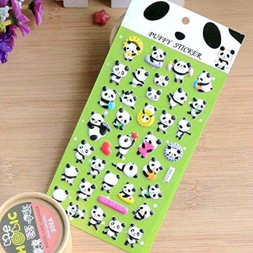 Angelangel-6-Sheets-DIY-Cute-Kawaii-Cool-Art-Animals-Panda-3D-Puffy-Decorative-Diary-Album-Calendar-Adhesive-Stickers-Scrapbooking-Craft-For-Kids-Phones-Boys-Girls-Journal-0