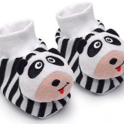 Black-White-Pair-of-Panda-Baby-Booties-Foot-Rattles-0