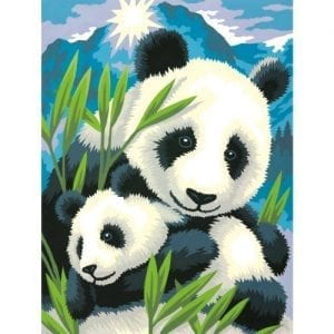 Dimensions-Crafts-Paintworks-Paint-by-Number-Kit-Panda-and-Cub-0