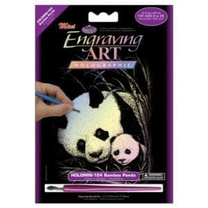 Royal-Brush-Mini-Holographic-Foil-Engraving-Art-Kit-5-by-7-Inch-Bamboo-Panda-0