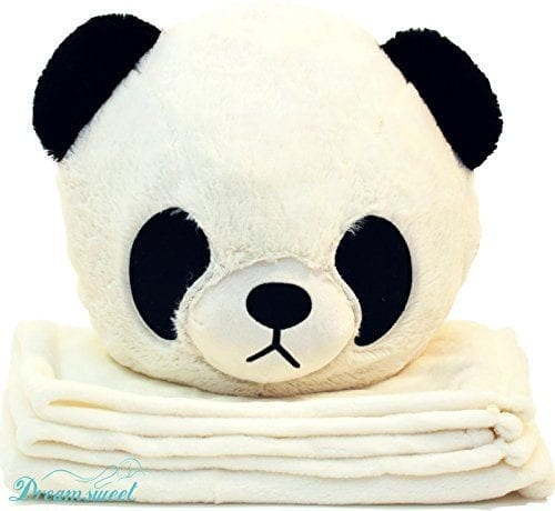 Kids-Panda-Throw-Pillow-Cushion-with-Detachable-Blanket-Insert-Dreamsweet-B7PA-0