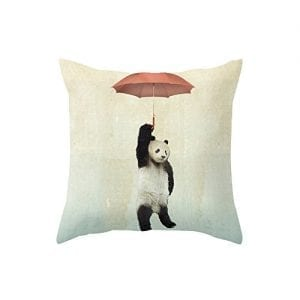 Yoler-Pillow-Case-Decorative-Sofa-Cushion-Satin-175x175-Inch-Bright-Color-Umbrella-Panda-0