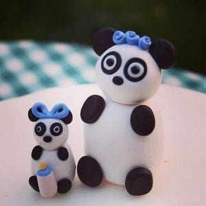 panda baby shower cake topper