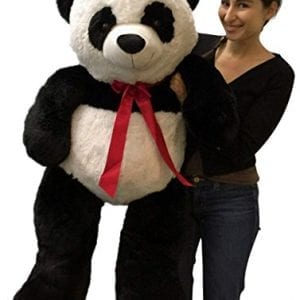 Big-Stuffed-Panda-Bear-48-Inches-Soft-Smiling-Large-4-Foot-Plush-Animal-0
