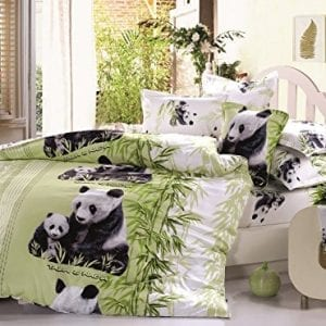 Beddinginn-Lovely-Mother-and-Baby-Pandas-Print-400-thread-count-Cotton-4-Pieces-3d-Bedding-Sets-Twin-0