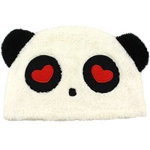 Fuzzy-Plush-Panda-Bear-Hat-Beanie-Headwear-Lovey-Bear-0