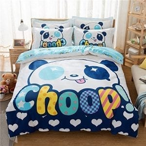 High-Go-Cartoon-Panda-Duvet-Cover-Sheet-No-ComforterQueen-Size-Panda-Kids-Bedding-Sets-100-Cotton-133X72-0