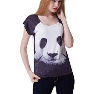 JTC-Ladys-Panda-T-shirt-Casual-Top-One-Size-0