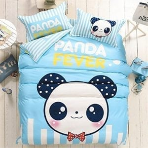 LM-Queen-Size-Cotton-Microfiber-M-panda-Bedding-Set-Bed-Linens-Duvet-Cover-Sets-Without-Comforter-Queen-1-Flat-Sheet-1-Duvet-Cover2-Pillowcases-0