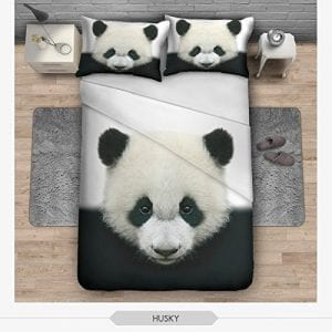 OJIA-3D-Prints-Beautiful-100-Cotton-3-Piece-Cute-Panda-Bedding-Sets-1x-Duvet-Cover-and-2x-Pillow-Covers-Twin-Size-0