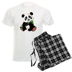 CafePress-Mens-Pajamas-Panda-Eating-Bamboo-Pajamas-L-With-Checker-Pant-0