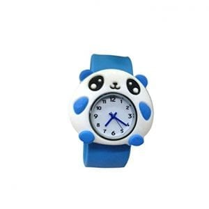 Cartoon-Blue-Panda-Unisex-Kids-Watch-Water-resistant-Sports-Watch-Bendable-Rubber-Strap-Wrist-Watch-0