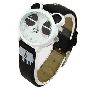 Foxqueena-143-PU-Synthetic-Leather-Strap-Panda-Face-Kids-Quartz-Cartoon-Wrist-Watches-Black-0
