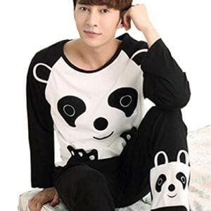 KM-Couple-Pure-Cotton-Pyjamas-Long-Sleeve-Nightwear-Set-7-Panda-Male-XL-0