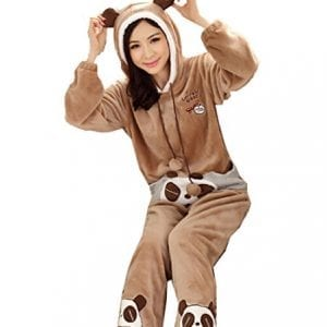 Ladies-Lovely-Winter-Thickening-Super-Soft-Flannel-Warm-Two-pieces-Set-Panda-M152-160cm-44-50kg-0