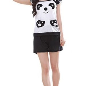 MyFav-Big-Girls-Cute-Panda-Pajamas-Sleeveless-Cartoon-Nighty-Sleepwear-Shorts-0