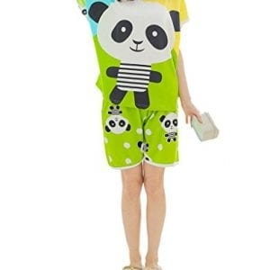 MyFav-Womens-Cute-Pandas-Sleepwear-Nighty-Casual-Fit-Summer-Pajama-Shorts-Set-0