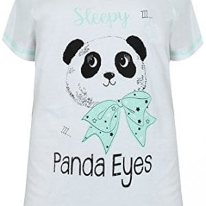 Plus-Size-Womens-White-Black-Mint-Green-panda-Eye-Cotton-Pyjama-Top-Size-24-26-White-0