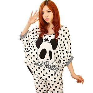 ShufugeTM-Womensgirls-Knitting-Cotton-Large-Size-Lovely-Cartoon-Panda-Pajamas-Suit-0