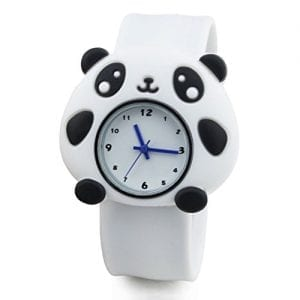 Unisex-Kids-Waterproof-Sports-Bendable-Rubber-Strap-Wrist-Watch-Panda-0
