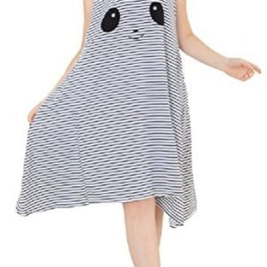 iNewbetter-Womens-Panda-Sleeveless-Nightgown-Nightwear-Pajamas-Dress-Sleepwear-Blue-0