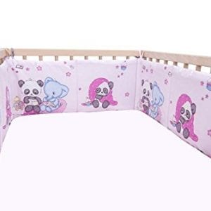 Baby-Panda-Friends-SoulBedroom-Cotton-Cot-Bumper-Pad-Half-210x40-cm-0