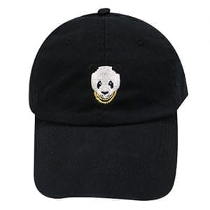 City-Hunter-C104-Swag-Panda-Embroidery-Cotton-Baseball-Cap-11-Colors-Black-0