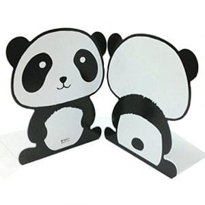 Cute-Cartoon-Fashion-Panda-Nonskid-Iron-Library-School-Office-Home-Study-Metal-Bookends-Book-End-7-0
