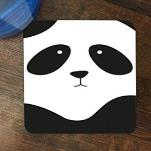 Cute-Panda-Face-Design-Print-Image-Silicone-Drink-Beverage-Coaster-4-Pack-by-Trendy-Accessories-0