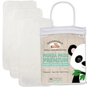 PANDA-PADS-PREMIUM-REVERSIBLE-3-PACK-Bamboo-Changing-Pad-Liners-Special-NO-SLIP-3-Layer-Design-Ultra-Soft-Absorbent-Waterproof-Machine-Wash-Dry-Antibacterial-Hypoallergenic-Great-Gift-0