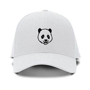 Panda-Bear-Face-Embroidery-Embroidered-Adjustable-Hat-Baseball-Cap-White-0