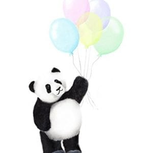 Panda-with-Balloons-Art-Print-Baby-Decor-Various-Sizes-Available-UNFRAMED-PRINT-0