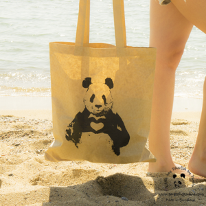 Pandas in love bag