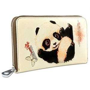 YALUXE-Womens-Cute-Animal-Print-Large-Leather-Clutch-Zipper-Wallet-Smartphone-Checkbook-Holder-Panda-0