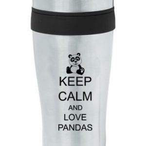 Black-16oz-Insulated-Stainless-Steel-Travel-Mug-Z1242-Keep-Calm-and-Love-Pandas-0