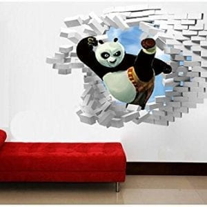 Home-Decor-Stick-Giant-Wall-Decal-3D-View-Art-Wallpaper-Mural-Kung-Fu-Panda-0