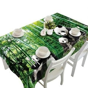Ikevan-Hot-Selling-3D-Dining-Multi-Functional-Table-Cloth-Picnic-Tablecloth-Table-Mat-Soft-Placemat-Mat-Decoration-Home-Party-90x150cm-Panda-Bamboo-0