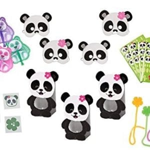 Panda-Party-Favor-Set-For-12-Mask-Mini-Treat-Box-Stickers-Tattoos-Sticky-Hibiscus84-Piece-0